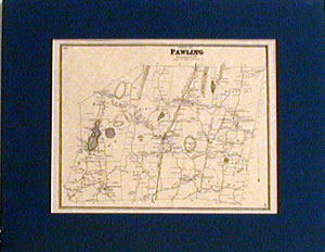 1867 Old MAP of Pawling, New York (NY).
